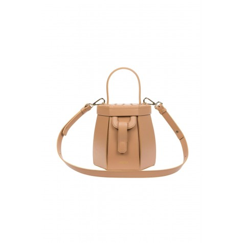 Hexagonal Long Handle Camel Feather Camel Bag